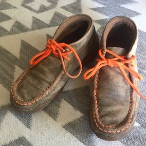 {Twisted x} child's leather lace up moccasins